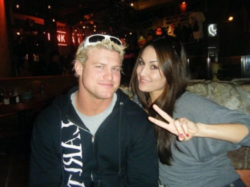 Dolph Ziggler New Look | Nikki Bella with Dolph Ziggler Caust Outsidely WWE Photos