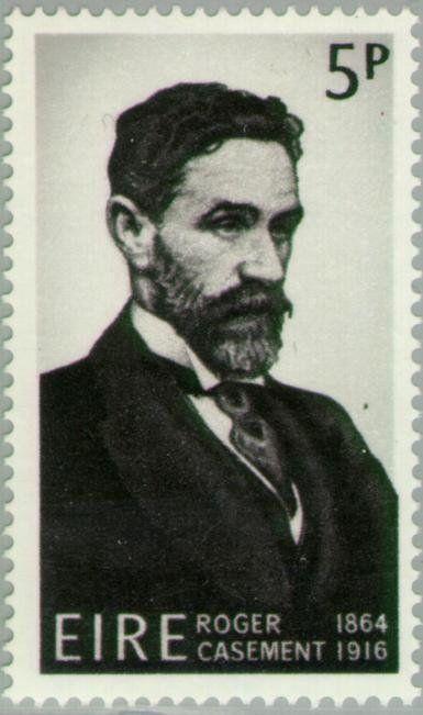 Stamp: Roger Casement 1864-1916 (Ireland) (50th Death Anniv. of Roger Casement (patriot)) Mi:IE 186,Sn:IE 214,Yt:IE 185,Sg:IE 221,AFA:IE 189