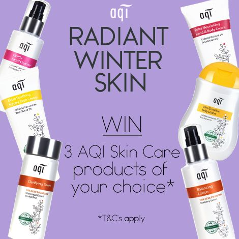 [AQI Competition ONLY FOR FACEBOOK ] We're giving away the chance to win 3 AQI products of your choice so you can keep your skin radiant this Winter.  Simply follow the below steps: 1) Like this post 2) Head to our website (www.aqicare.com) and choose the 3 products you would like to win 3) Leave a comment on this post with your chosen 3 products  Comp closes 17/6/17 11.59pm AEST.  Click for full T&C'sgoo.gl/bthwZG  Don't forget to hit the 'Share' button  Good luck!