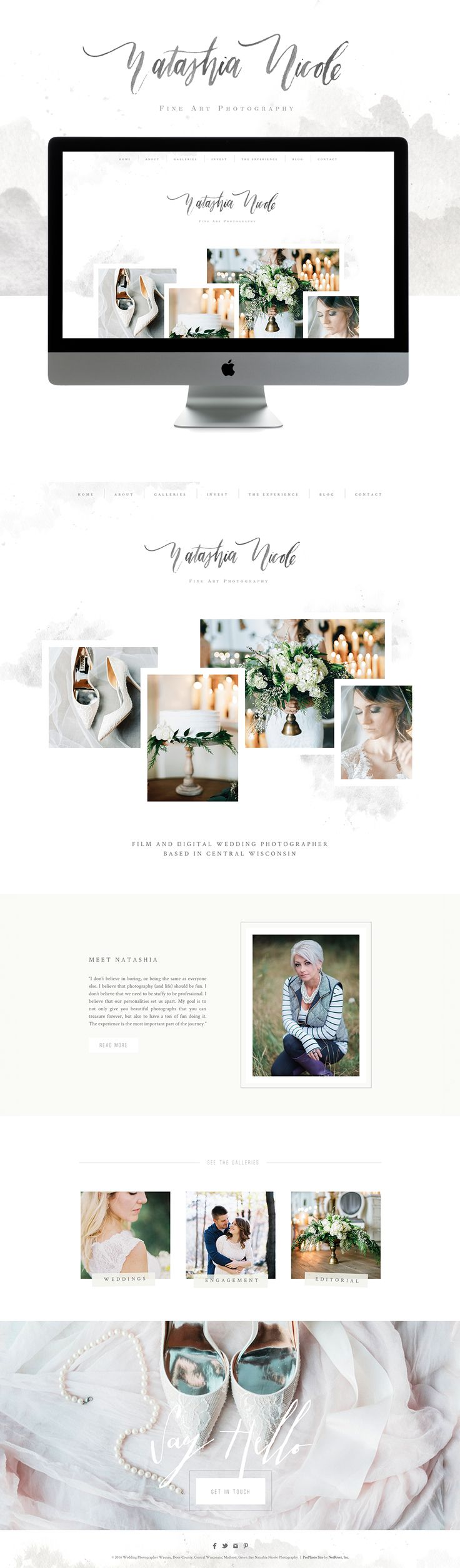 fine art elegant Squarespace website design | Designed by: Golivehq.co