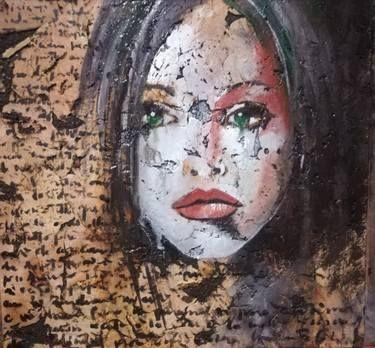 "Saatchi Art Artist Donatella Marraoni; Painting, ""Words...only words"" #art"