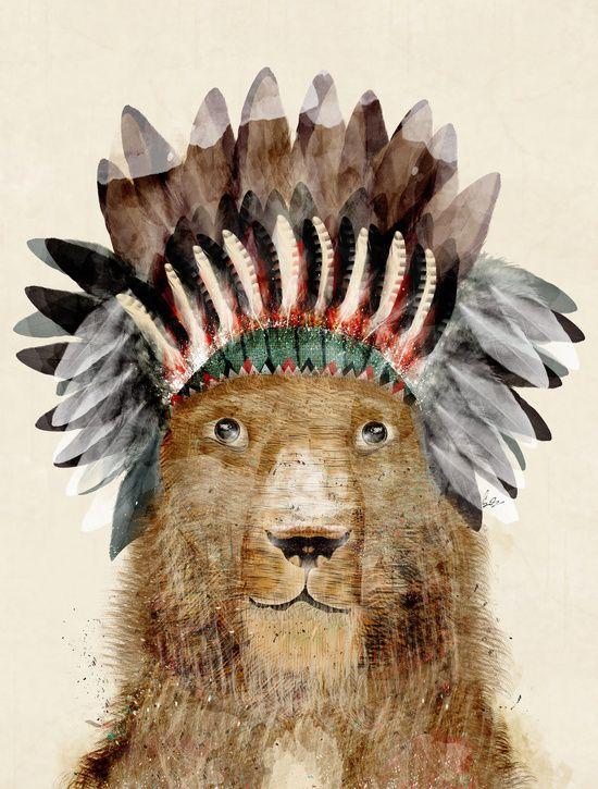King Leo Art Print