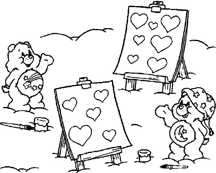 1000 images about care bear bedtime bear 4 on pinterest for Bedtime coloring pages