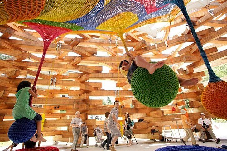 Manualidades de crochet que se convierten en parques infantiles