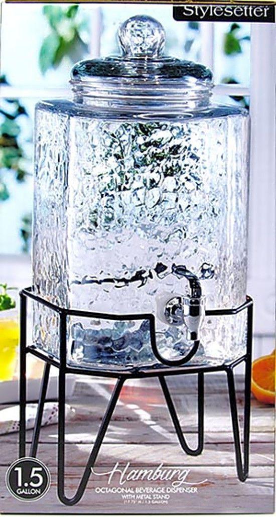 best 25 glass beverage dispenser ideas on pinterest 3 gallon beverage dispenser bar sets for. Black Bedroom Furniture Sets. Home Design Ideas