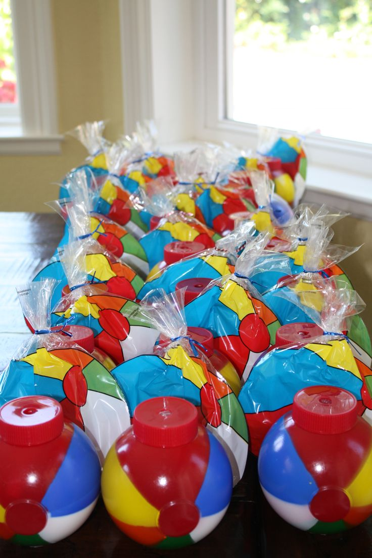 Beach ball party favors my children parties pinterest for B day party decoration ideas