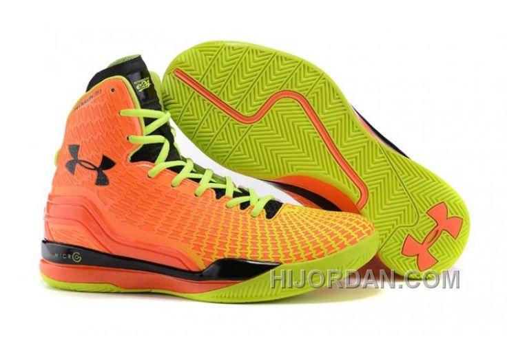Under Armour ClutchFit Drive UA Curry 2 PE Orange Volt Green Black Basketball Shoes 6kfxK