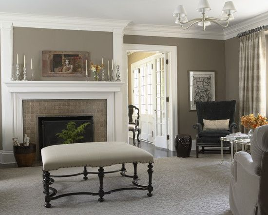 The wall paint color is Benjamin Moore Ashley Gray HC-87. Can this go in our house anywhere since we have so much brown??