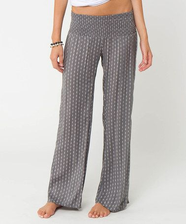 Look what I found on #zulily! Gray Johnson Smocked Pants #zulilyfinds