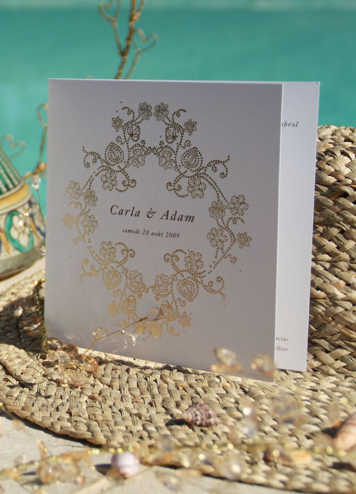 "Faire-part de mariage ""Byzance"" www.dancourt.net © 2015 DANCOURT #fairepart #mariage #papeterie #wedding #stationnery #savethedate #invitation #creatif #design #original #chic #elegant #moderne #oriental #papierdecreation #or #dorure"