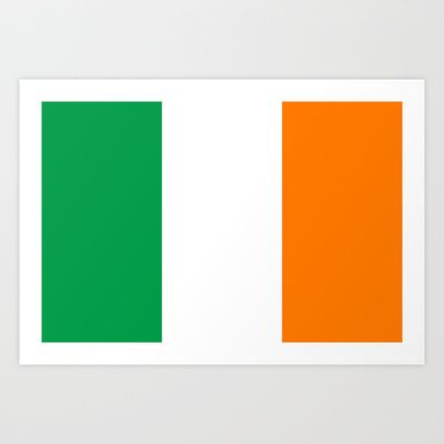 National flag of the Republic of Ireland - Authentic 3:5 Version Art Print by LonestarDesigns2020 - Flags Designs + - $15.00
