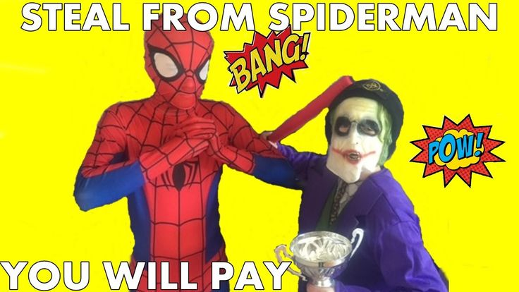 Spiderman v Joker Spider-man DO NOT STEAL FROM SPIDERMAN !!!!