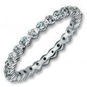 Sterling #Silver, Aquamarine #Diamond By Samuels Jewelers