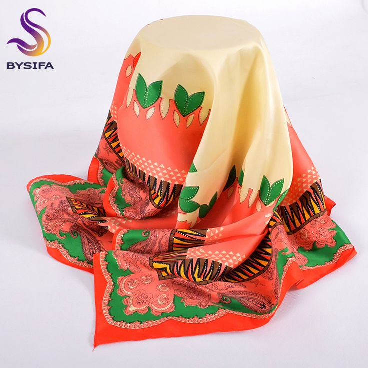 >> Click to Buy << [BYSIFA]Brand Beige Pink Silk Scarf Cape High Quality Thicken Satin Square Scarves Muslim Head Scarf Spring Autumn Wraps Muffler #Affiliate