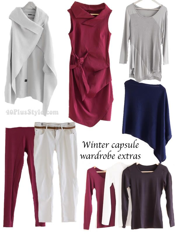 How to create lots of outfits with a capsule wardrobe for winter | 40plusstyle.com