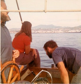 Malcolm calls us together to instruct us to clean the boat from bow to stern.  After Stormvogel is shipshape, the women are allowed free access to fresh water, followed by the men.  We arrive in Gib looking like we were arriving after a short mid-day sail!  Malcolm's style.