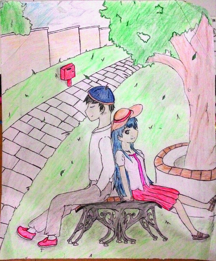 That drawing not from any anime and that characters created by me.
