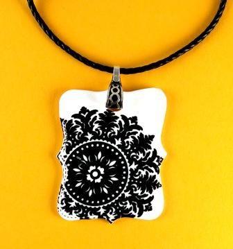 Shrinky Dink pendant