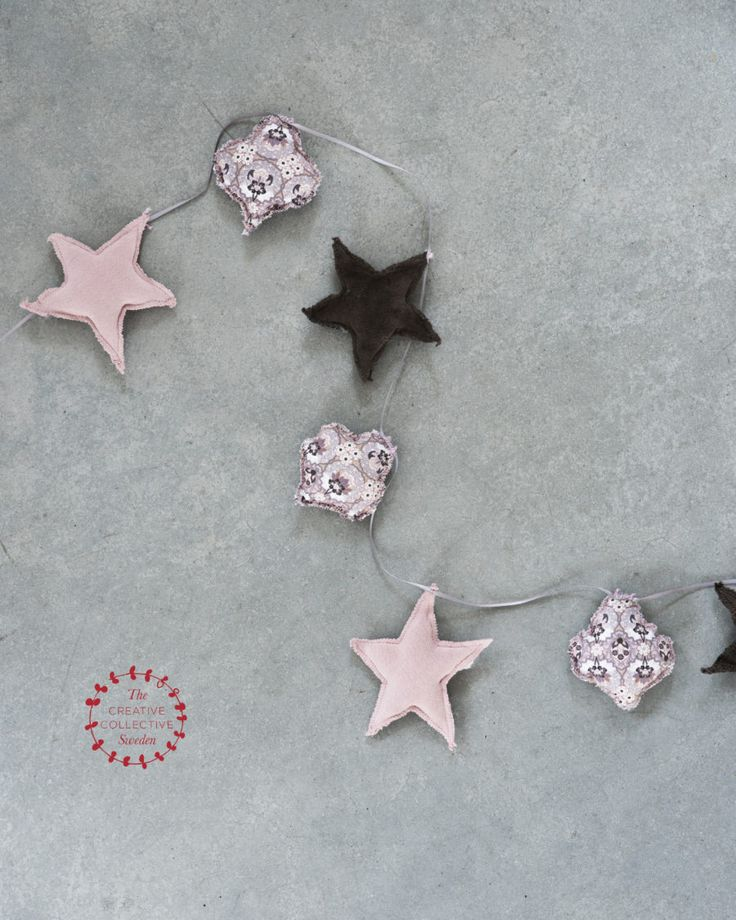 DIY julpyssel sy girlang i tyg / DIY christmas craft