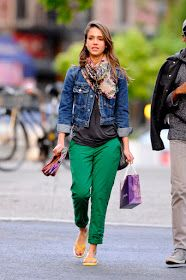 Stylish outfit ideas from Jessica Alba.