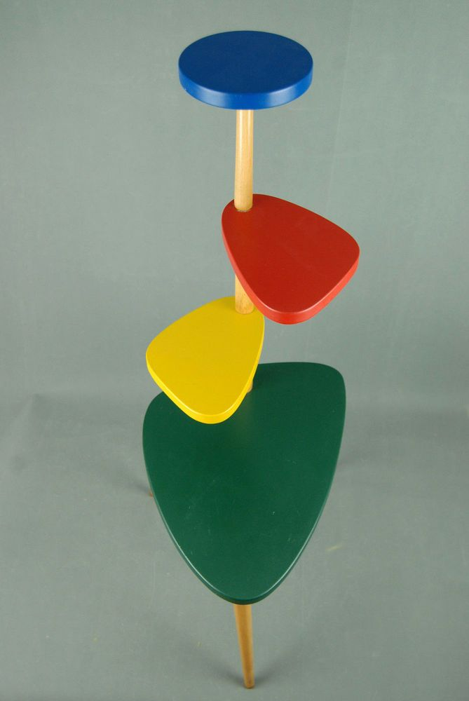 PLANTSTAND Mid Century Style Danish Modern Plant Stand Vintage Eames 1980s 50s in Antiques, Periods/Styles, Modernist | eBay!