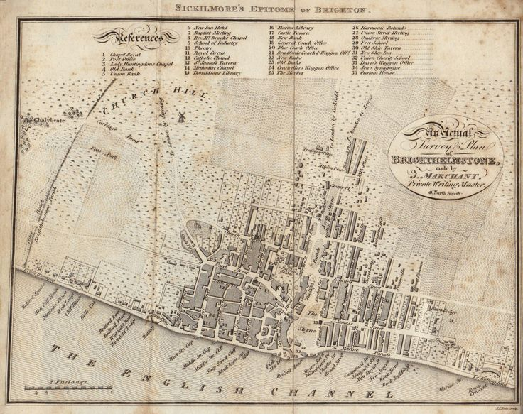 Marchant Brighton (Brighthelmston) Map (1815)