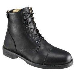 Bottes, boots Equitation - BOOTS D'EQUITATION PADDOCK lacets noir FOUGANZA - Equipement du cavalier BLACK