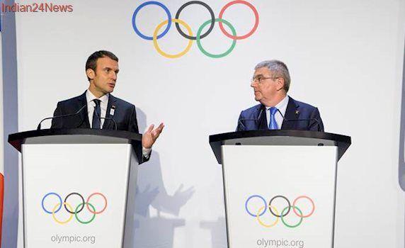 French President Emmanuel Macron, Los Angeles mayor Eric Garcetti woo 2024-2028 Olympic host voters