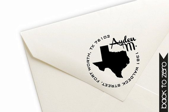Personalized Return Address Pre-Inked Stamp - Custom in your Home State - 9 Ink Colors Available