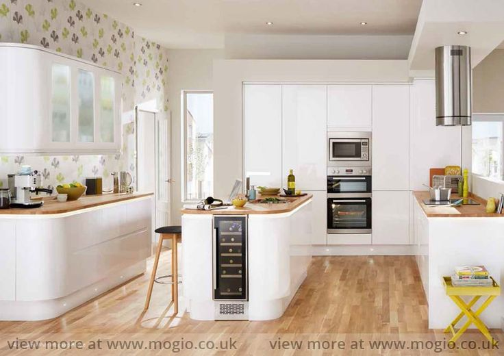 Gloss White Integrated Kitchen