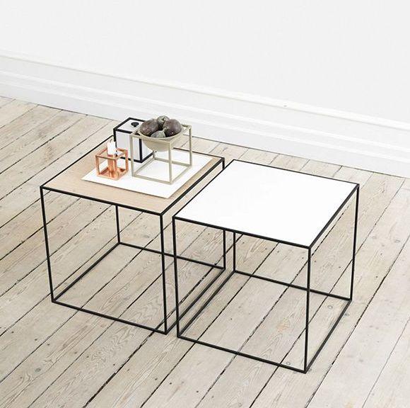by lassen - Table basse carrée-by lassen-Twin table, white # oak
