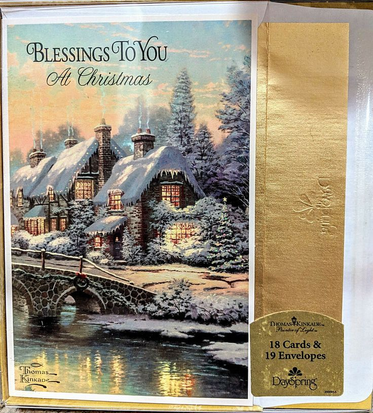 "Thomas Kinkade CHRISTMAS CARDS ""BLESSINGS TO YOU AT"