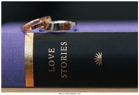 The cutest way to carry your wedding rings before the ceremony. A hollow book wedding ring holder from Secret Safe Books. Love Stories on the spine.
