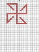 Оберег Солонь схема Солонь — древний Солнечный символ, оберегающий человека и его добро от темных сил. Изображался как правило, на одежде и предметах бытового назначения. Очень часто изображение Солони встречается на ложках, горшках и другой кухонной утвари.