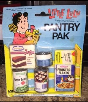 Antique Little Lulu RARE Pantry Pak plastic groceries in New Braunfels, TX (sells for $20)