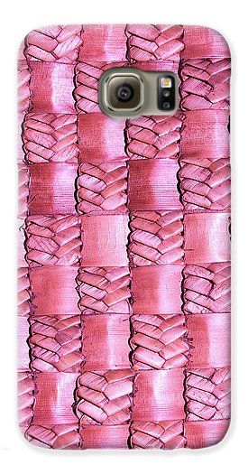 Weaving Galaxy S6 Case featuring the photograph Weaving Flax - Watermelon by Wairua o te Moana