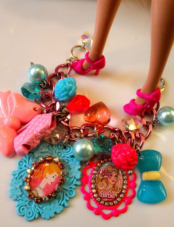 Barbie Baubles and Pearls Chunky Candy Cameo by athinalabella