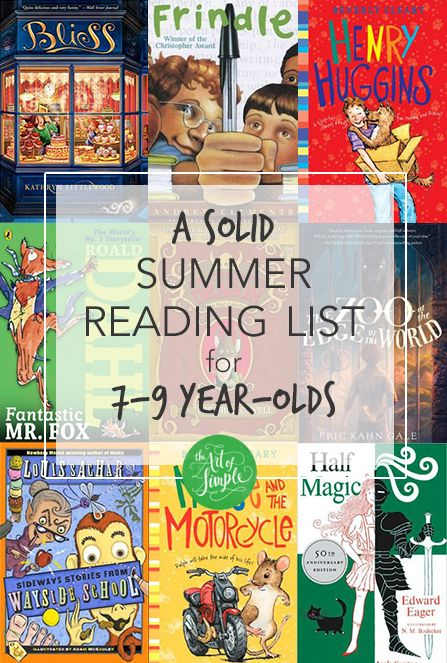 A solid summer reading list for 7-9 year-olds: 15 chapter books for the eager reader in your life.