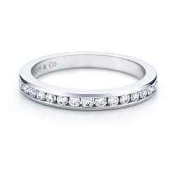 Tiffany & Co Channel-set band ring, half circle