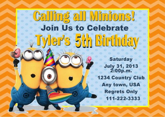 101 best minion party images on pinterest | minion birthday, Birthday invitations