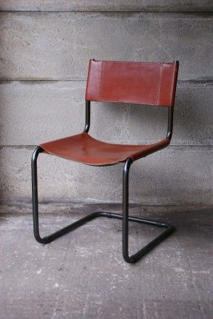 Matteo Grassi Chair Leather Cantilever