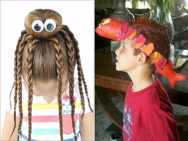 The Best Hairdos From Crazy Hair Day At Schools Wacky Hair Wacky Hair Days Whacky Hair Day