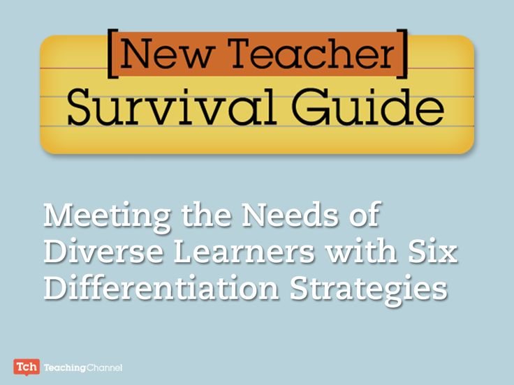 Lily Jones asked the members of Teaching Channel's Coaching Think Tank to share their top differentiation strategies for new teachers. Check out these 6 tips for meeting the needs of diverse learners.
