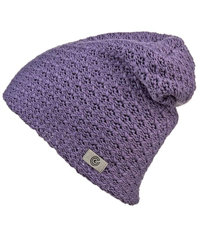 8ed425624d6 Evony Warm Thick Slouch Beanie for Women- Textured Knit with Soft Inner  Lining - One Size Review