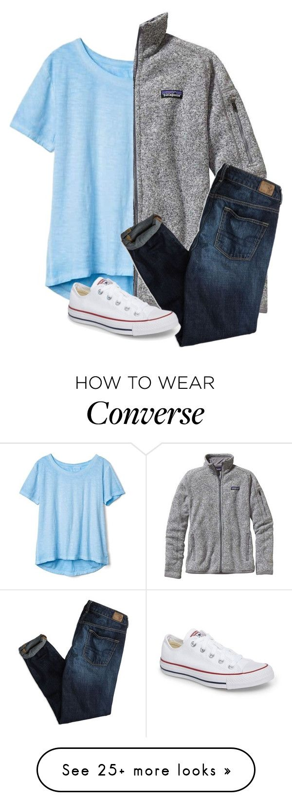 """Untitled #188"" by lhnlila on Polyvore featuring Gap, Patagonia, American Eagle Outfitters and Converse"