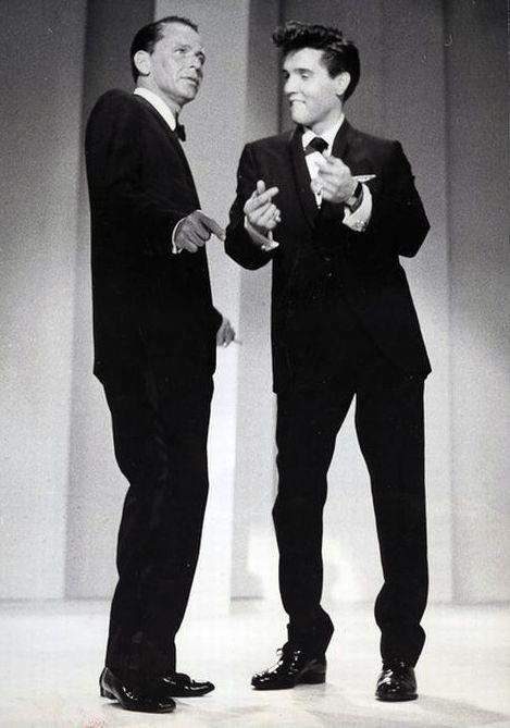 Frank Sinatra y Elvis Presley