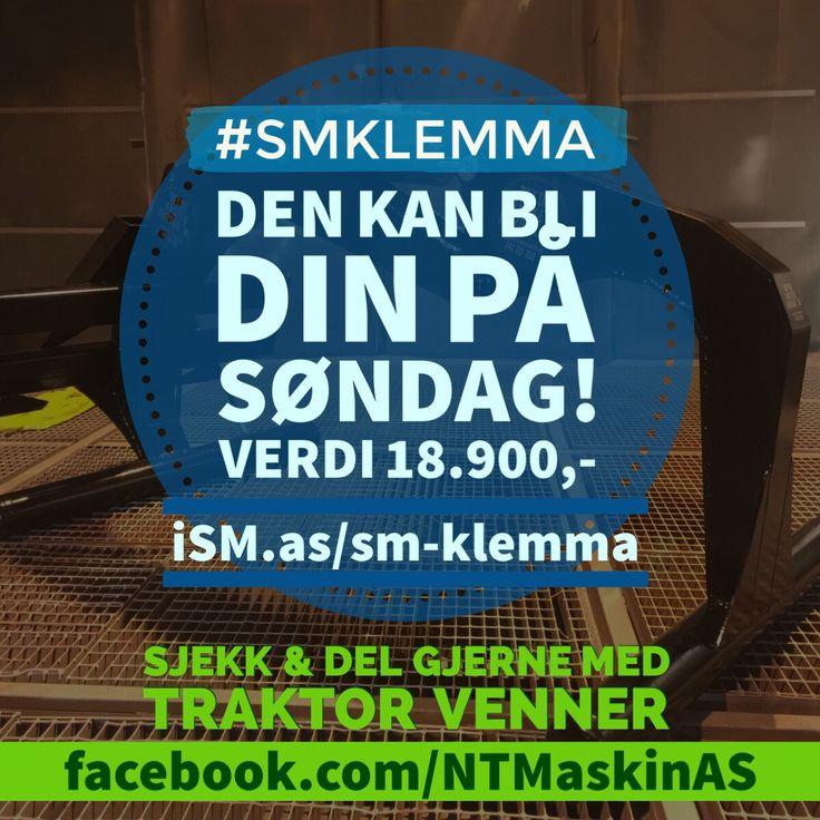 #VINN denne på søndag, verdi 18.900,- Se http://ism.as/sm-klemma • #Steinkjer #traktor #SMKlemma #Ballklemme