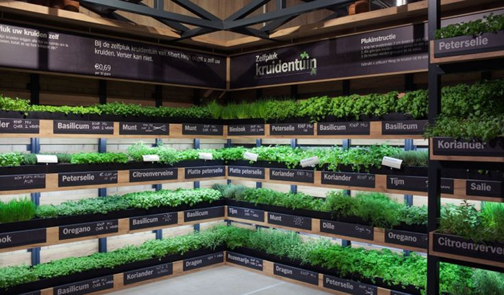 Leading #Dutch #supermarket Albert Heijn has created the Help Yourself #herb #garden for the ultimate in freshness, allowing customers to take just what they need.