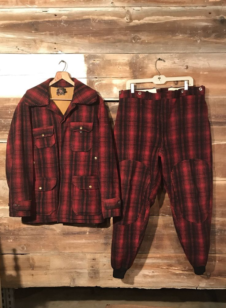 Excited to share the latest addition to my #etsy shop: Vintage Tartan Plaid Woolrich Wool Hunting Coat and Pants * Red and Black Plaid * Vintage Hunting * Wool Hunting Clothes * Cabin Decor #clothing #men #jacket #birthday #red #black #redandblackplaid #tartanplaid #woolhuntingclothes