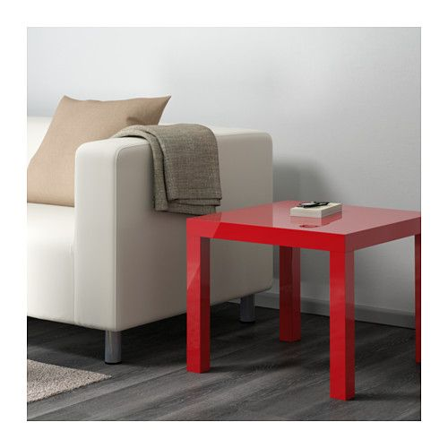 LACK Side table, high gloss red high gloss red 21 5/8x21 5/8